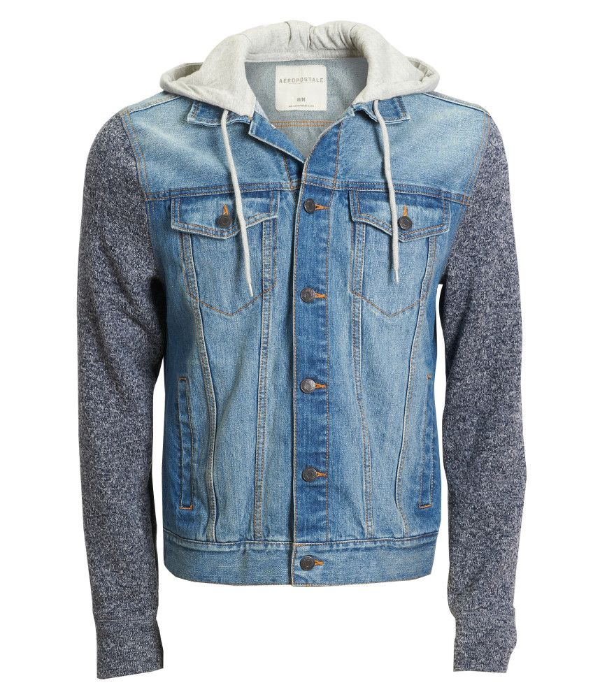 Jean Jacket Vest With Hoodie For Women | camperas jean | Pinterest