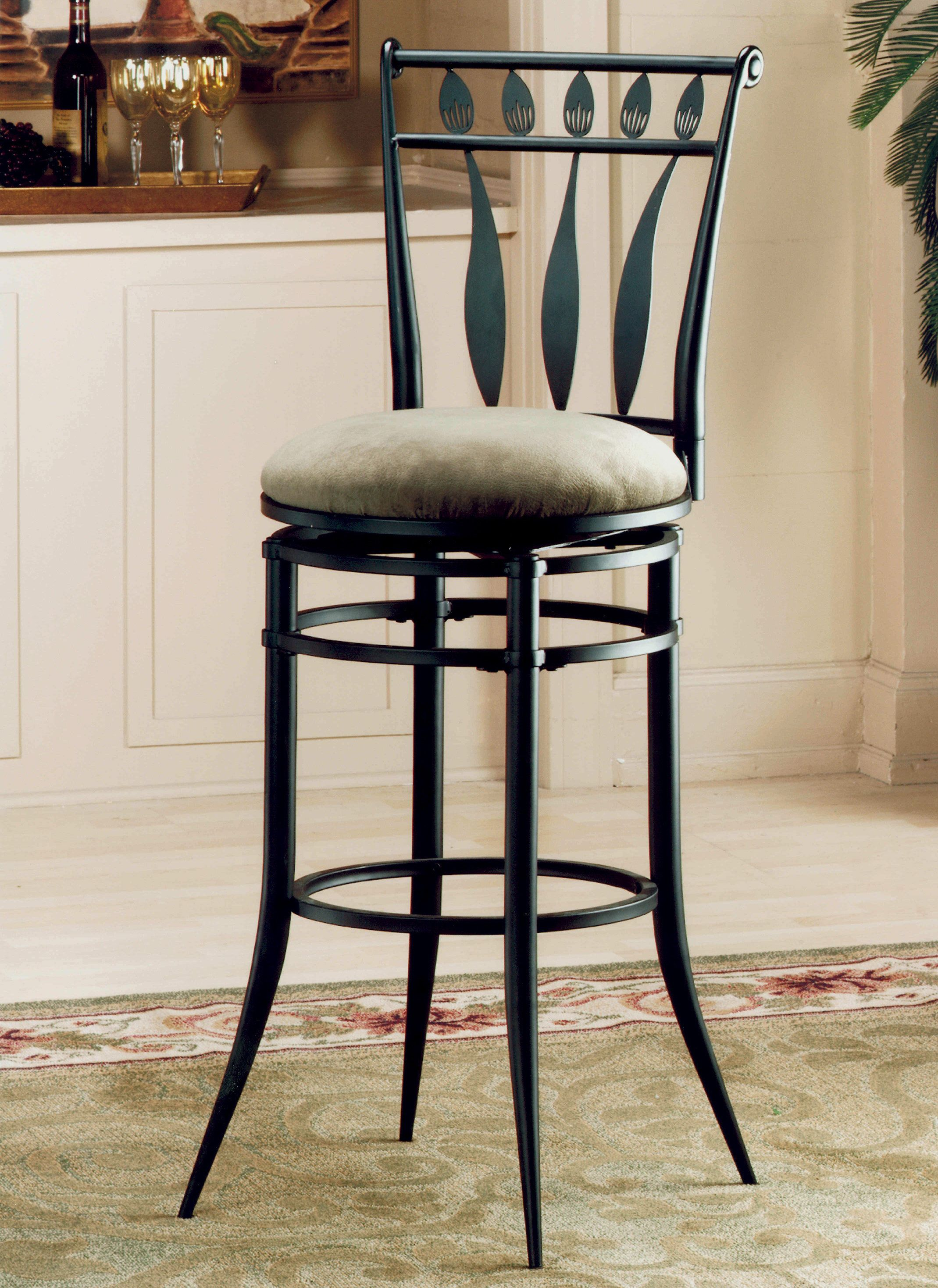 6 Beautiful Swivel Cushioned Bar Stool In Bar Design Ideas Colorful And Distinctive Hand Painted Furniture Is An Excellent Bar Stools Swivel Bar Stools Stool