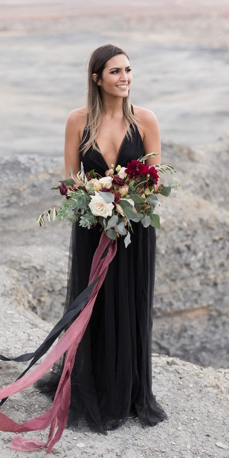 Photo of 33 Beautiful Black Wedding Dresses That Will Strike Your Fancy | Wedding Dresses Guide