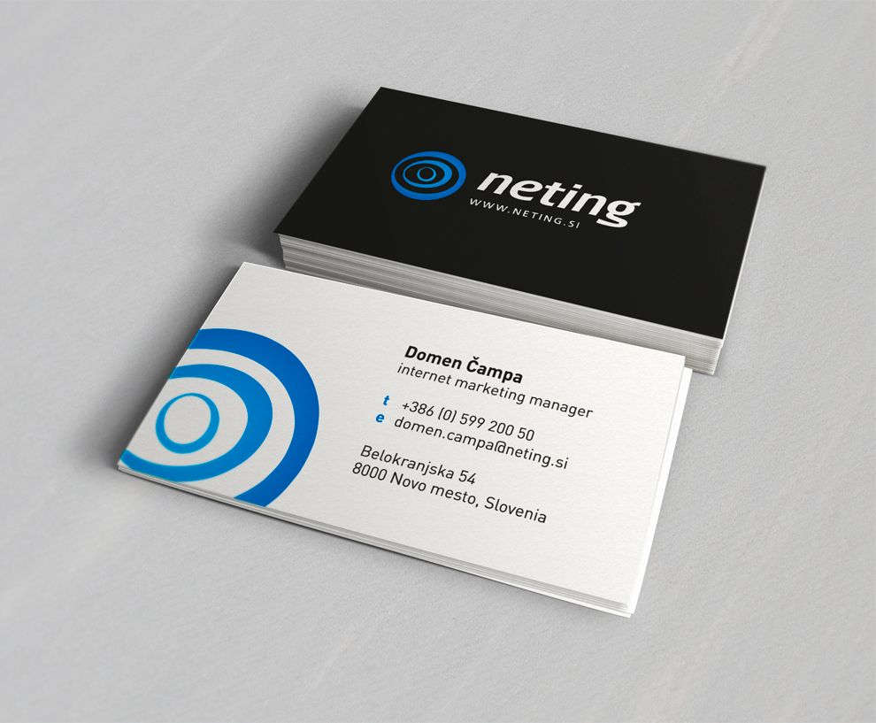 Neting It Solutions Business Card By Cubio Www Cubiodesign