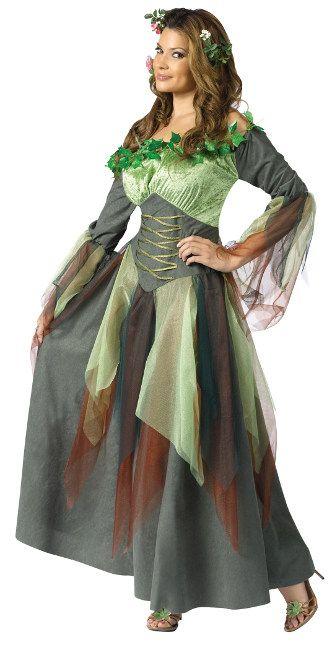 bezaubernde waldfee damenkostm elfe grn