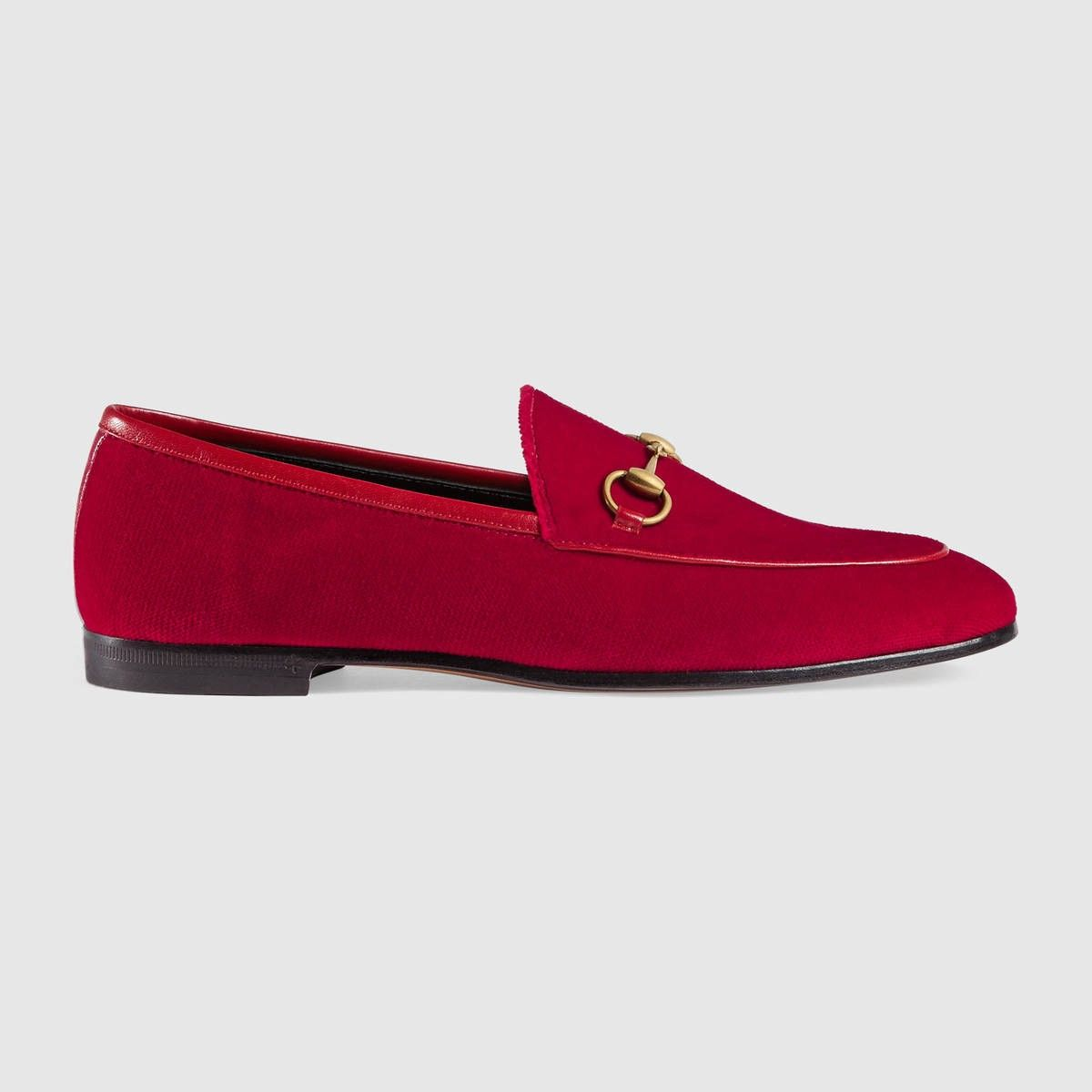 bd21a966b4d9 GUCCI Gucci Jordaan velvet loafer - hibiscus red velvet.  gucci  shoes