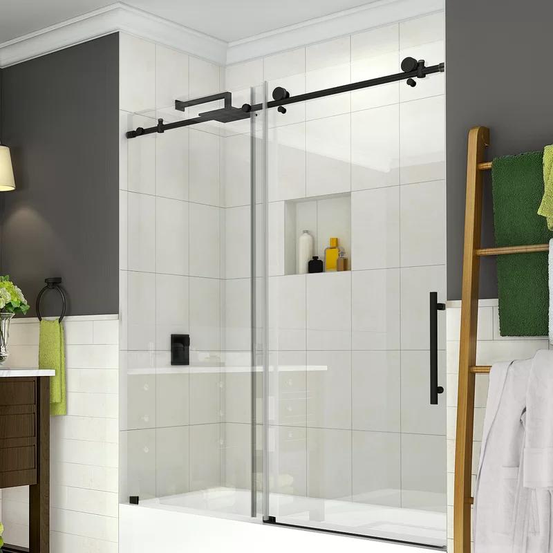 Coraline 60 X 60 Single Sliding Frameless Tub Door In 2020