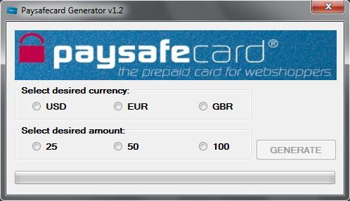 Online Paysafe Code Generator
