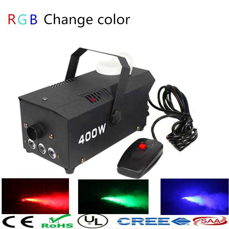 LED Smoke Fog Machine/RGB Change Color Stage Remote Or ...