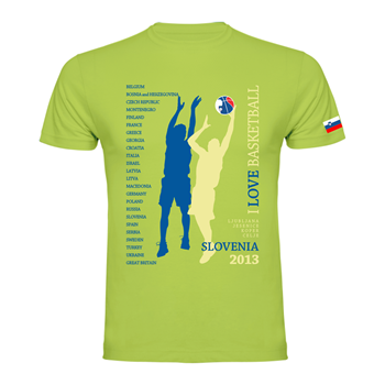 Majica Premium Basketball Slovenia 2013 #junaki #spain2014 #sLOVEnia #basketball