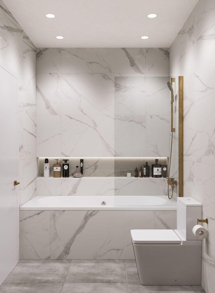 Shower Bath Marble Modern Banyo Modern Banyo Tasarimi Banyo