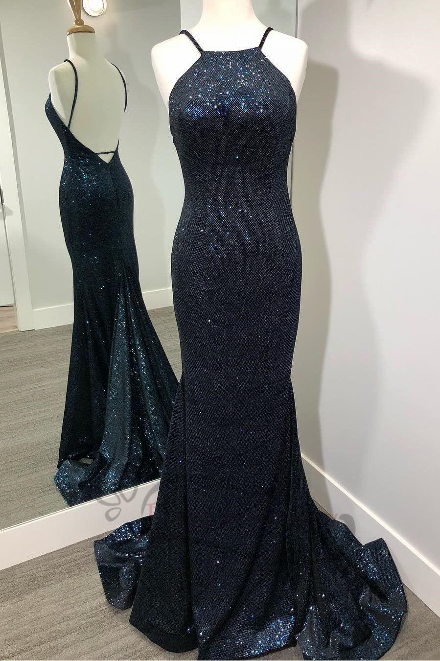 Luxurious black long evening dress mermaid in prom dresses