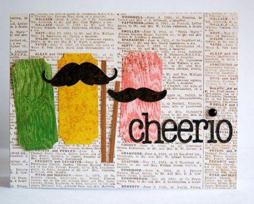 fun mustache card :)