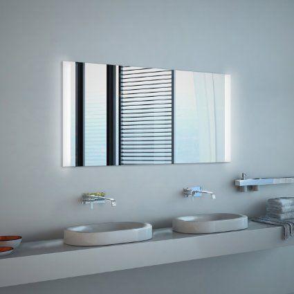 Noemi Led Badspiegel Mit Beleuchtung Kippschalter B 120 Cm X