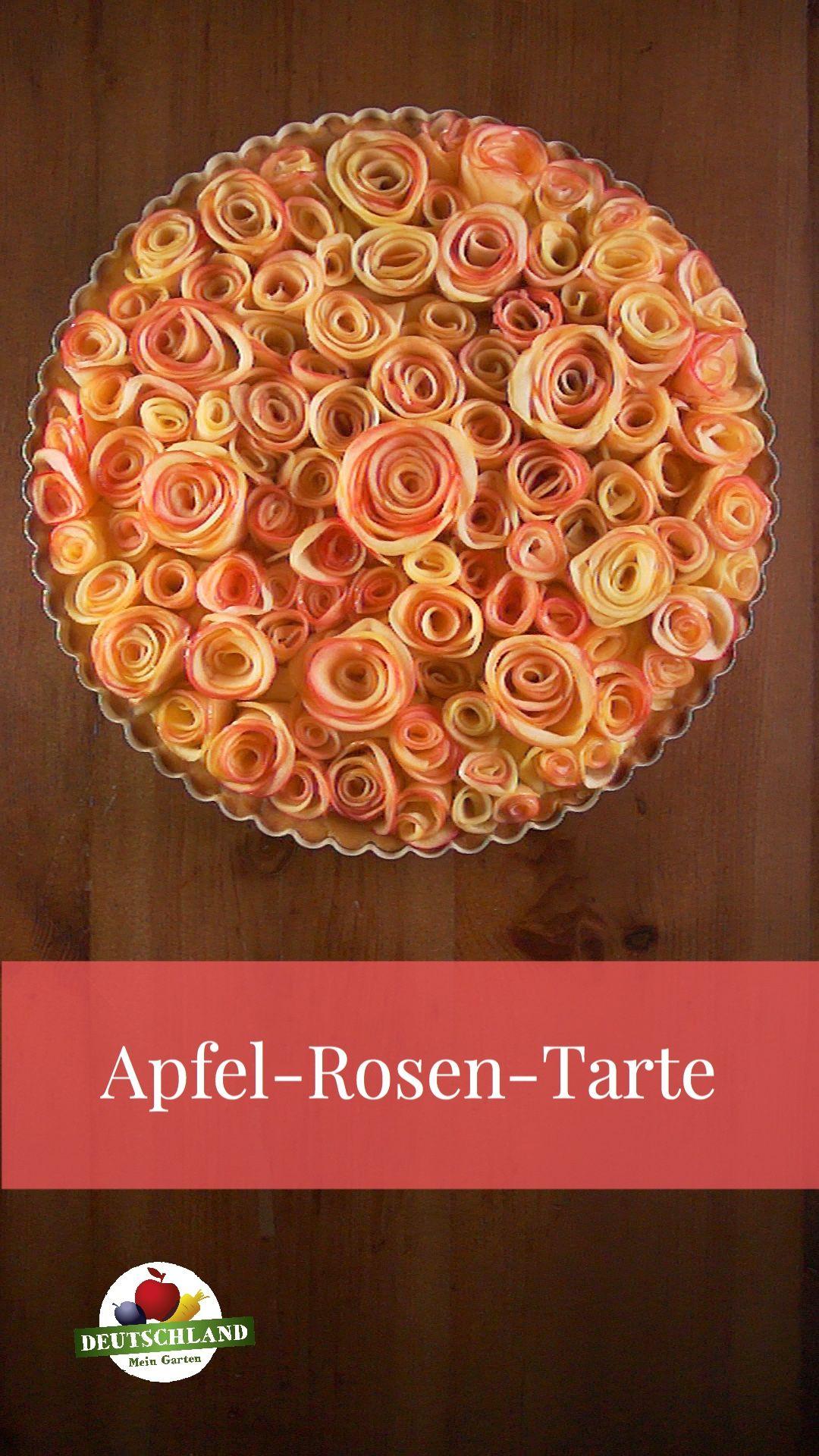 Apfel-Rosentarte