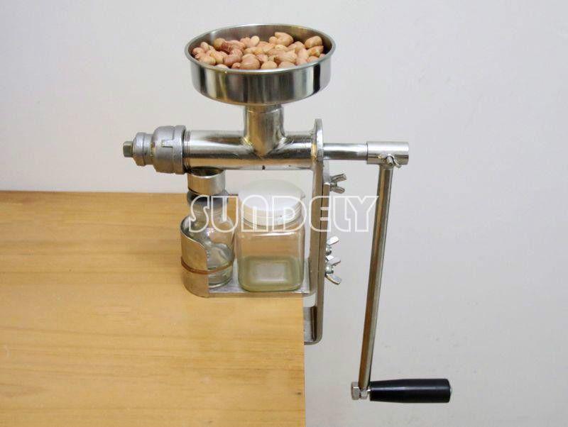 Manual Hand Oil Screw Press Oil Expeller Peanut Nut Seed Diy