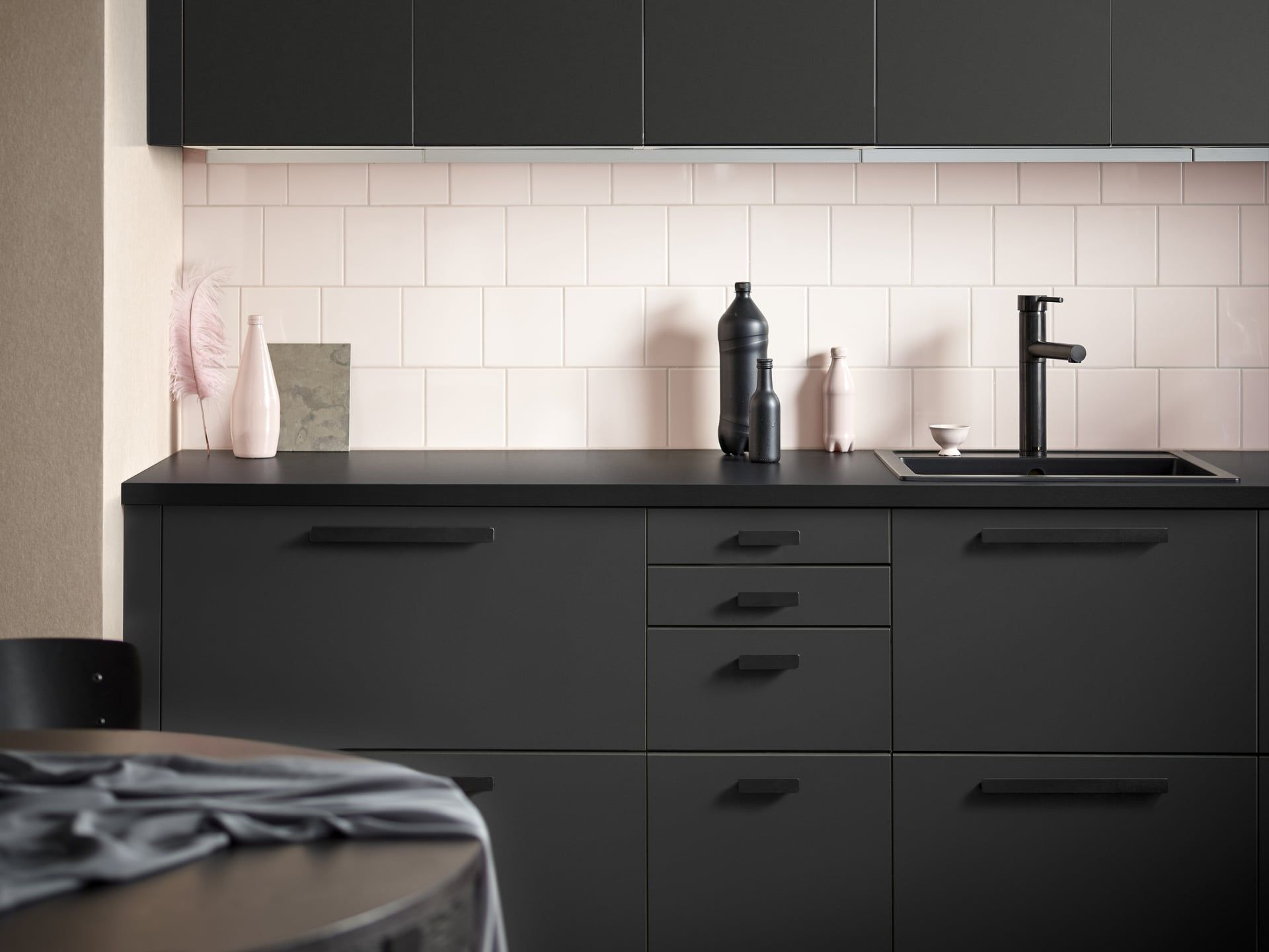 Ikea Just Released the Sleekest Kitchen Cabinets, All Made From Recycled Materials - Sleek kitchen cabinets, Recycled kitchen, Ikea kitchen units, Sleek kitchen, Kitchen design trends, Ikea kitchen - KUNGSBACKA Kitchen Cabinet Fronts
