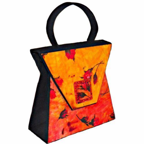 ff2a48fa7ed5 Vintage-Angela-Frascone-San-Francisco-Boho-Roses-Rhinestone-Resin-Handbag -Purse