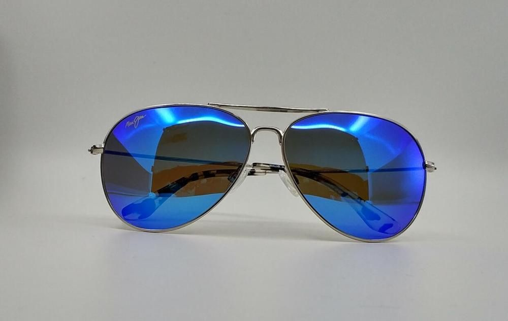 6098b6d0da9b Maui Jim MAVERICKS B264-17 Blue Hawaii Lens Polarized Sunglasses Silve  Frame  fashion