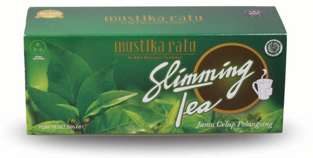 Slimming Tea 30 Tea Bag Herbal Mustika Ratu Guazumae Folium & Green ...