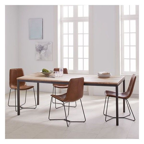 West Elm Box Frame Expandable Dining Table 60 80 Mango Wood
