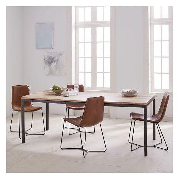 West Elm Box Frame Expandable Dining Table 60 80 Mango Wood