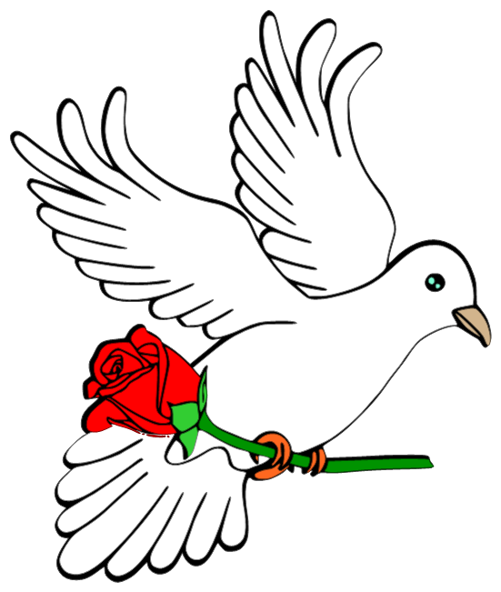 Dove with rose cutting file Free Svg files Pinterest