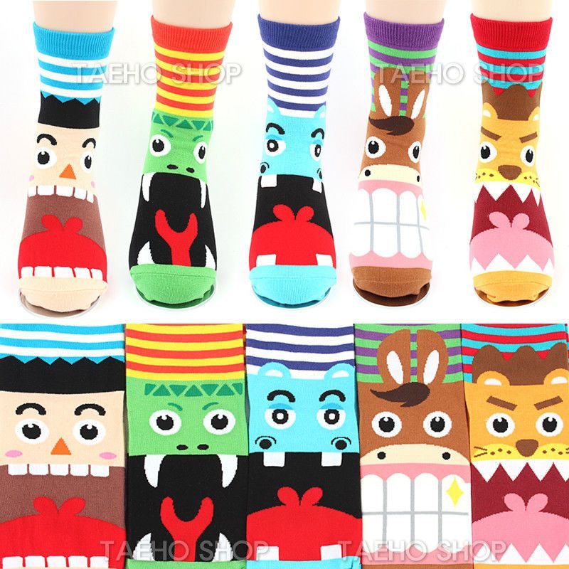 Fun socks for Women Super cute all over Animal face print Ladies ankle sock #Unbranded #Casual