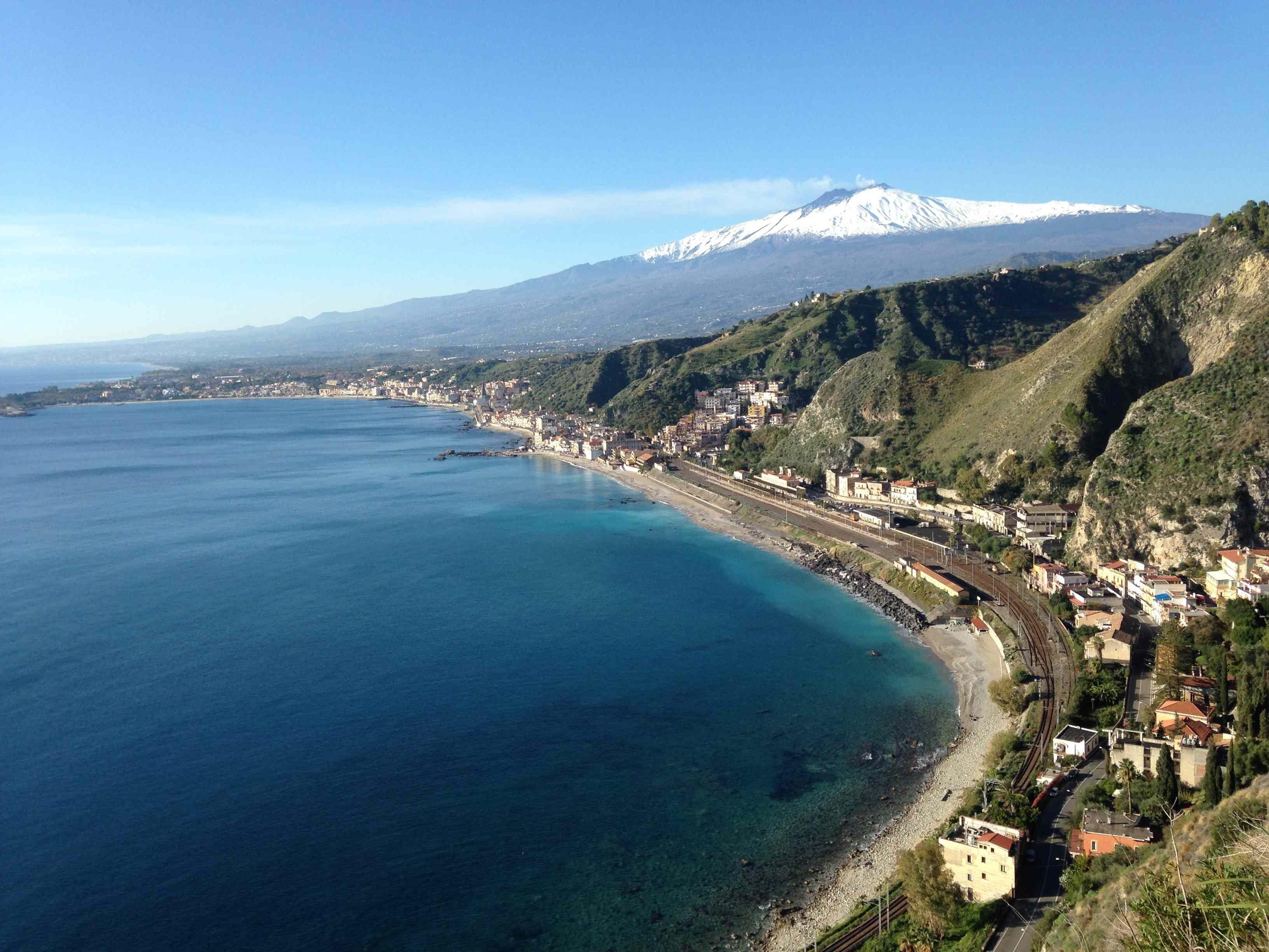 Etna depuis Taormina Sicilia