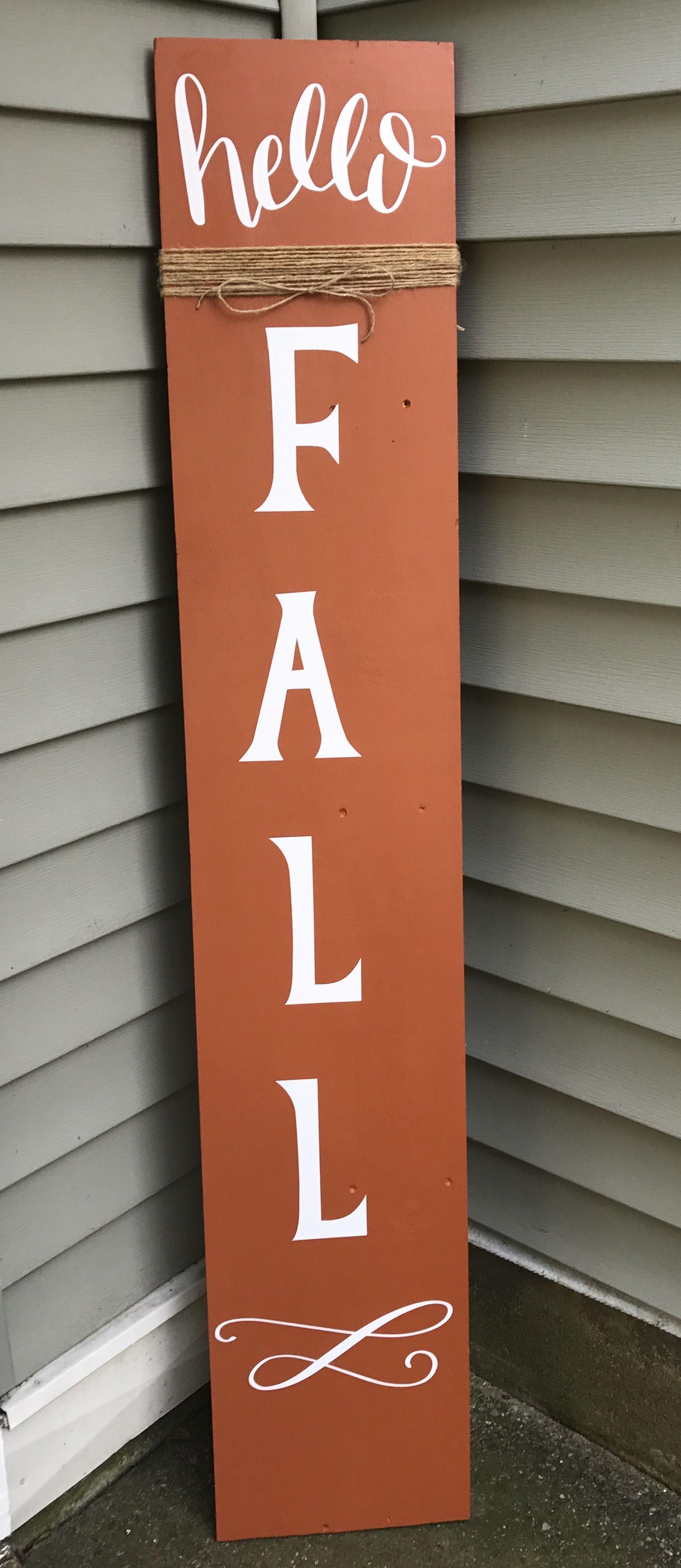 Hello Fall Porch Sign #hellofall
