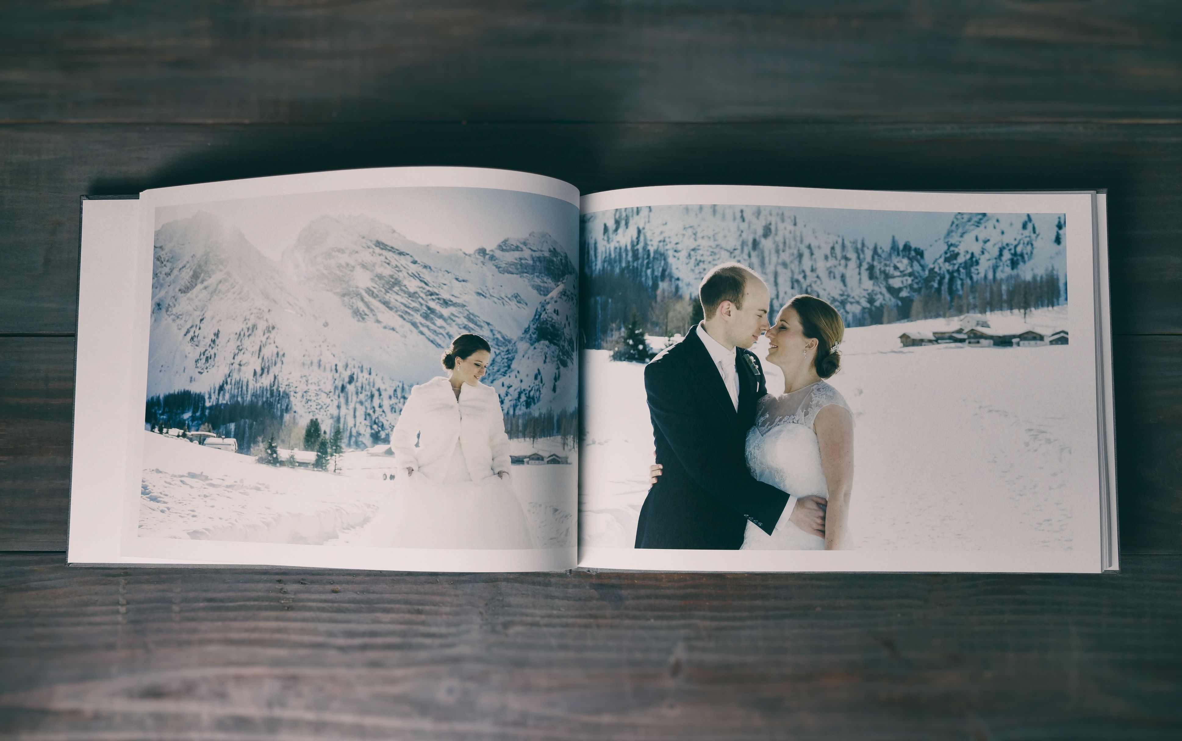 Our 18x12 Sweet Albums reach as big as the mountain tops and make photos look stunning. Photos by Andrea Kuehnis Photography