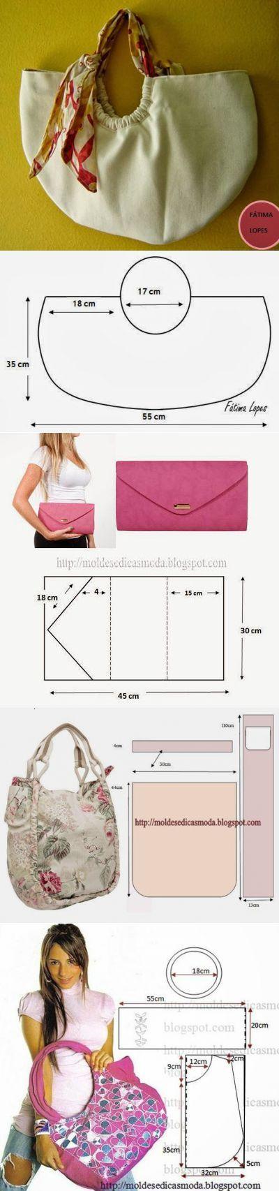 Выкройки сумок   carteras lapiz   Pinterest   Bolsos, Costura y Patrones