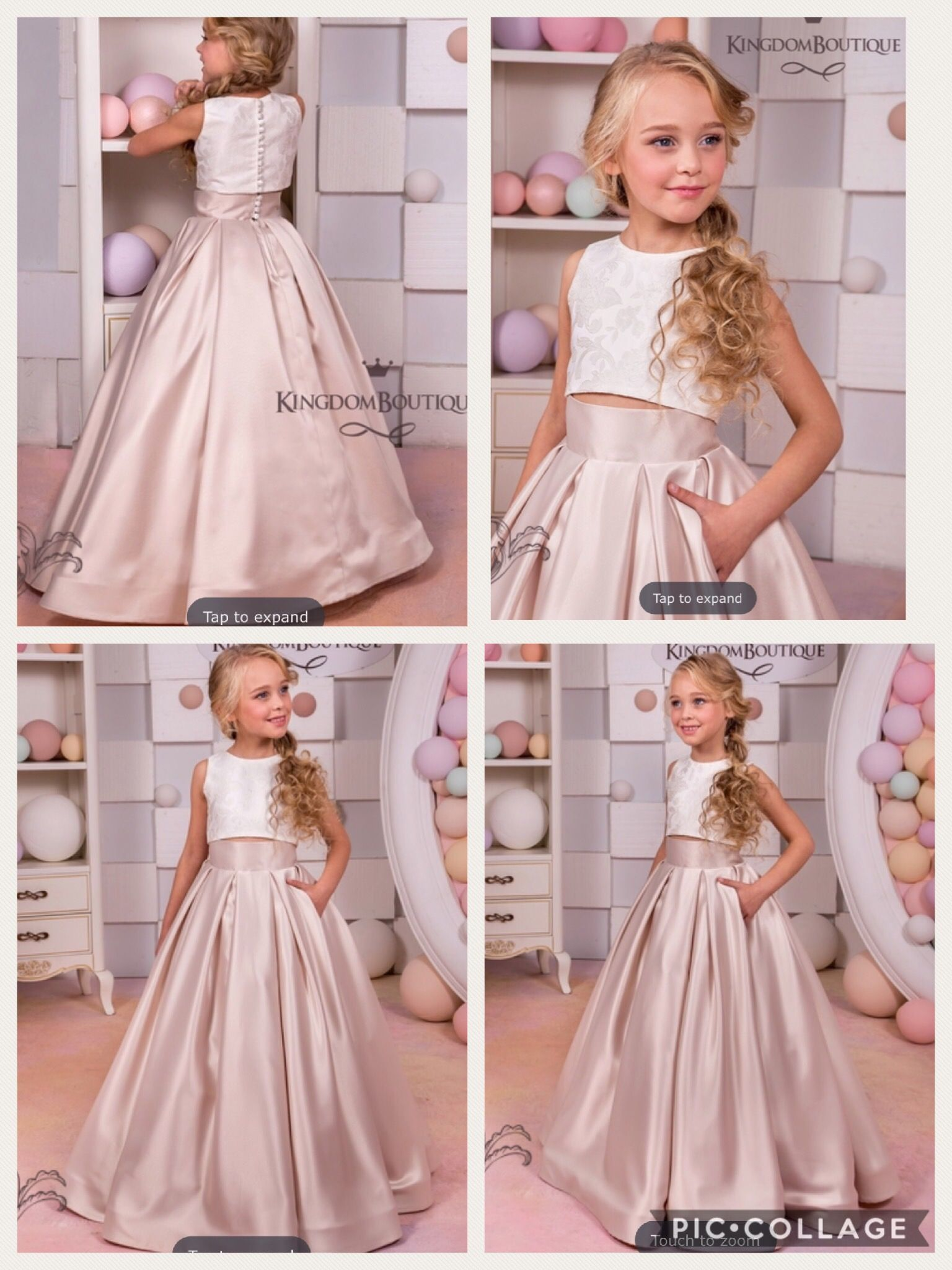 Kingdom Boutique Girls Dresses Vestido Para Niñas Boda