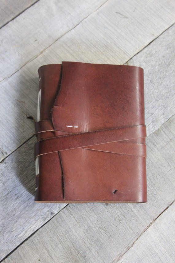 11618fa17b Handmade Leather Journal with Leather Strap Closure, Cognac ...