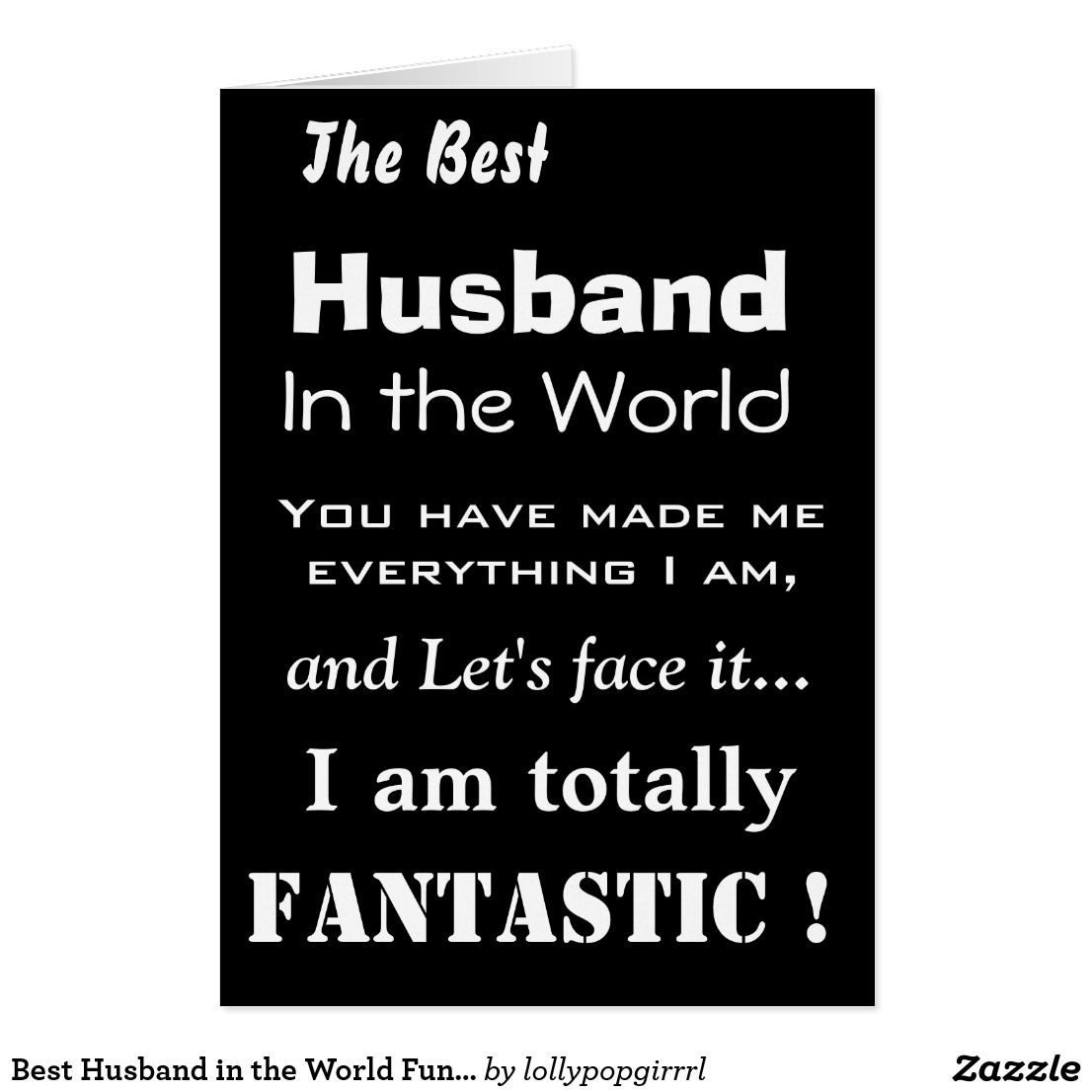Best husband in the world funny greeting card m4hsunfo