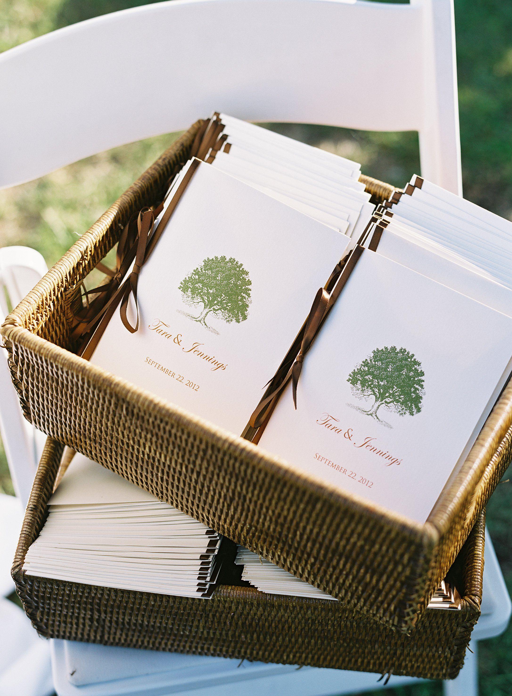 Tree Themed Wedding Programs | decoratiuni nunta | Pinterest | Tree ...