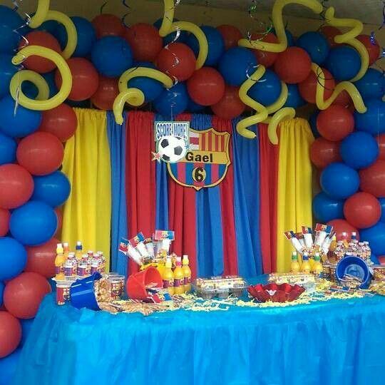 Decoracion de cumplea os f tbol club barcelona barcelona - Decoracion fiesta cumpleanos ...