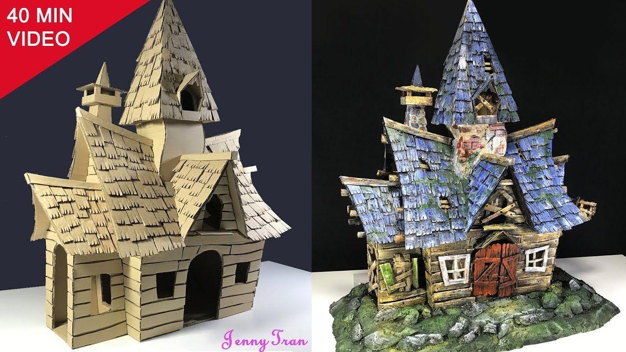 How To Make A Cardboard Haunted House YouTube Haunted
