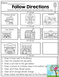 image result for giving direction to a place for elementary activity map skills for second. Black Bedroom Furniture Sets. Home Design Ideas