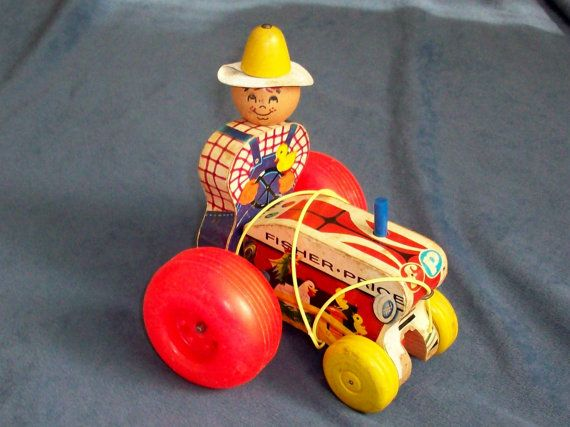 Fisher Price Tractor Pull Toy 1962-1968