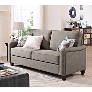 Merveilleux Better Homes And Gardens Grayson Sofa With Nailheads, Grey