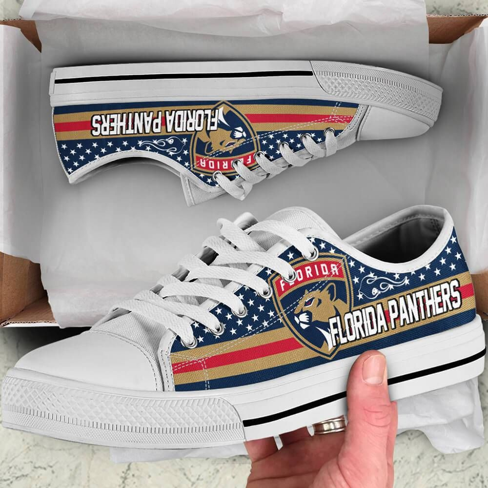 Florida Panthers Legend Since 1993 NHL Hockey Teams Blue Low Top Shoes - Teeqq Store