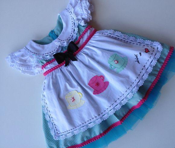 Vestido Alice In Wonderland R 280 00 Girl Fashion Clothes