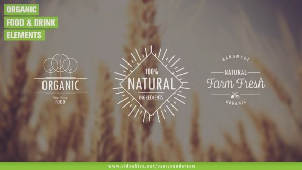 Food and Drink Elements (Nature)  After Effects Templates #aftereffects