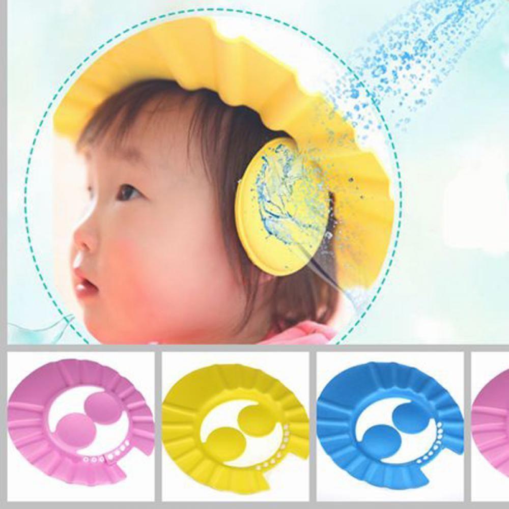 Baby Kid Children Bathing Shower Eye Ear Protective Head Cover Washing Hair Cap