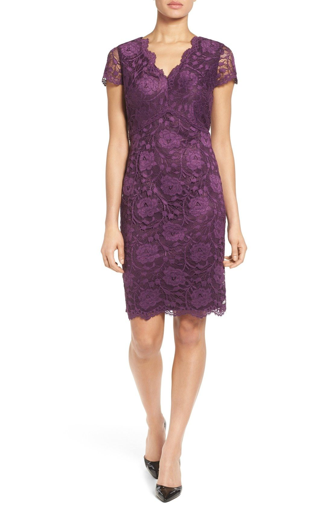 Ellen Tracy Lace Sheath Dress available at #Nordstrom | Style ...