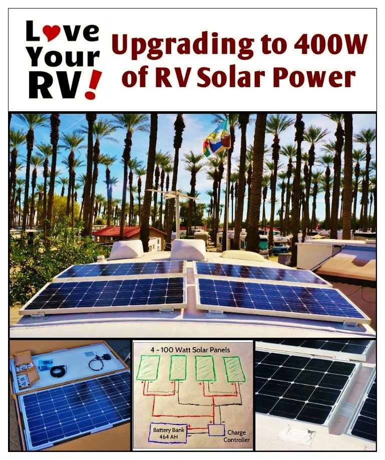Upgrading Our Renogy Rv Solar System To 400 Watts Solar Rv Solar Solar Panels