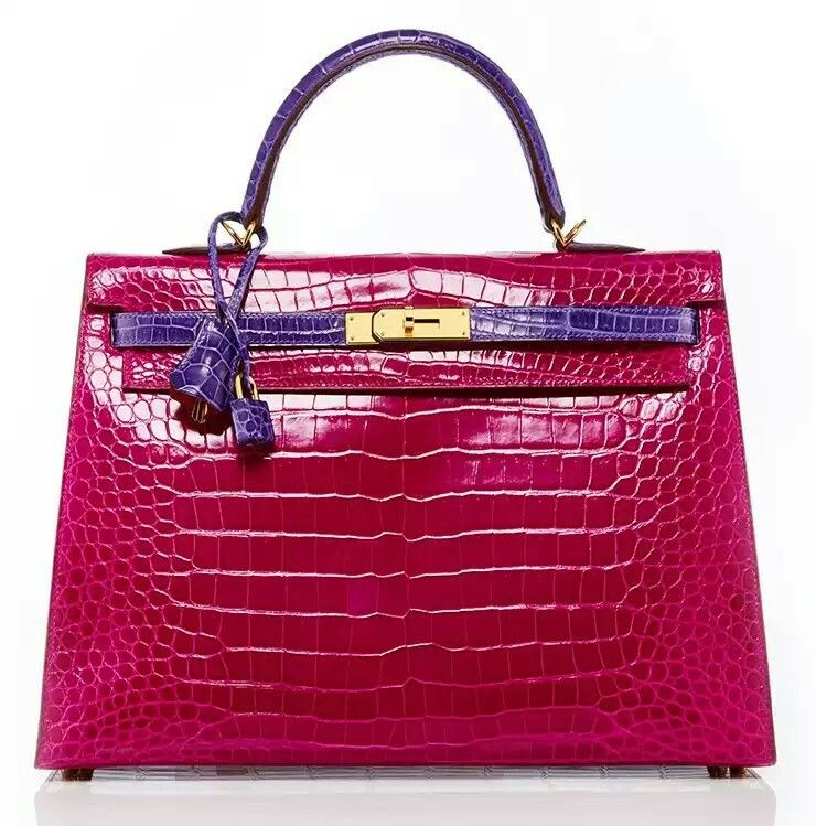 3e6ac8e66ef HERMÈS SELLIER KELLY EM ROSA SHOCKING   ULTRAVIOLET POROSUS CROCODILE