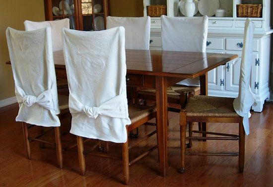 How To Make Simple Slipcovers For Dining Room Chairs In My Own