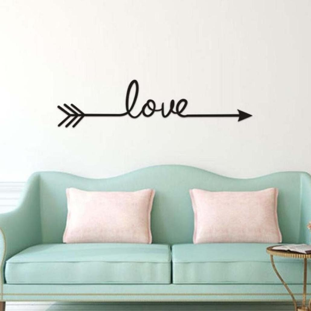 Vacally Wall Decor Stickers Letter Love Arrow Decal Living Room Bedroom Vinyl Carving Wall De Wall Stickers Living Room Paris Decor Bedroom Wall Decor Stickers #wall #decoration #stickers #for #living #room