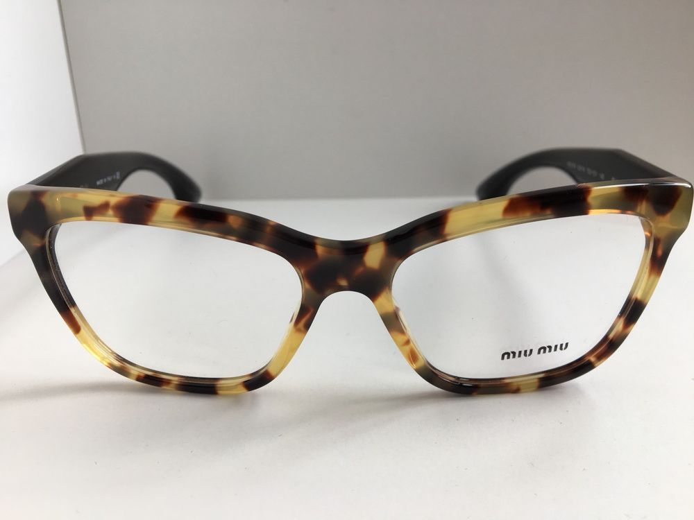 36a7cb85fc18 New Miu Miu Cat Eye VMU07N 7S0-101 53mm Tortoise Women s Eyeglasses Frame