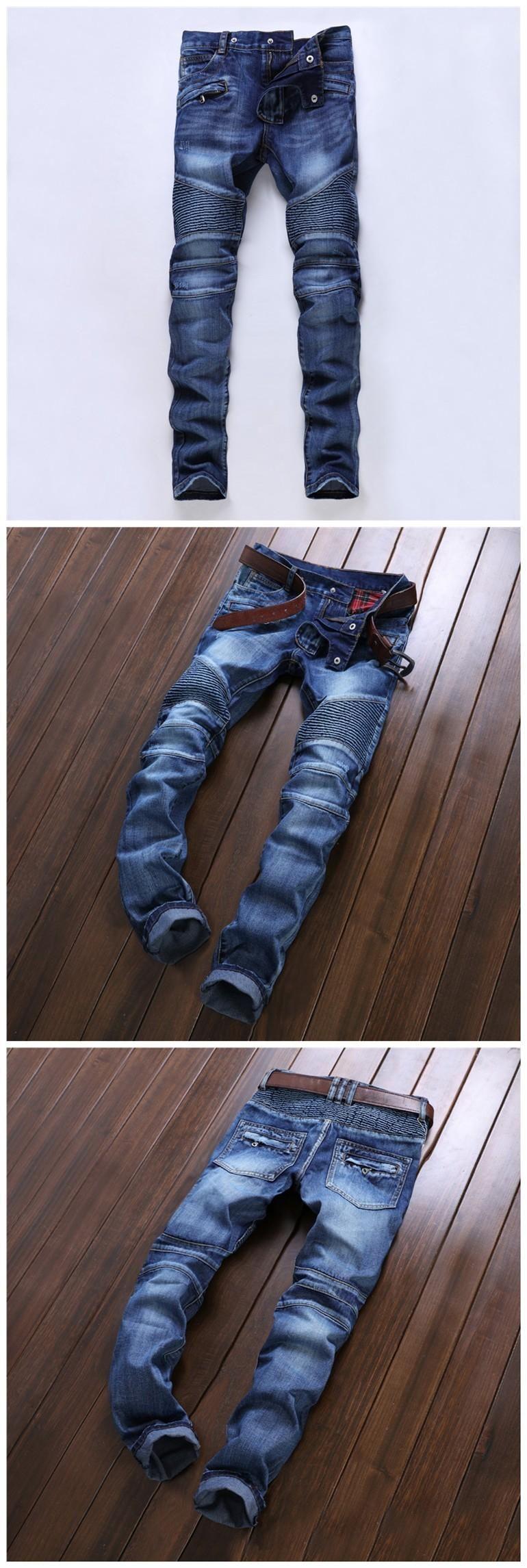 2046ddaca5f83c 2016 Balmain Jeans Men 2016 Hot Mens Designer Jeans Famous Brand Balmain Jeans  Men Distressed Jeans Ripped Denim Jn01 From Top_trading, $53.27 | Dhgate.Com
