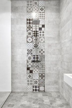 salle-de-bain-carreau-ciment | Bathroom interior design | Pinterest ...