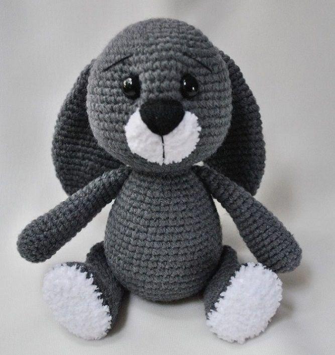 Зайка амигуруми вязаная игрушка | Зайчата | Pinterest | Animales ...